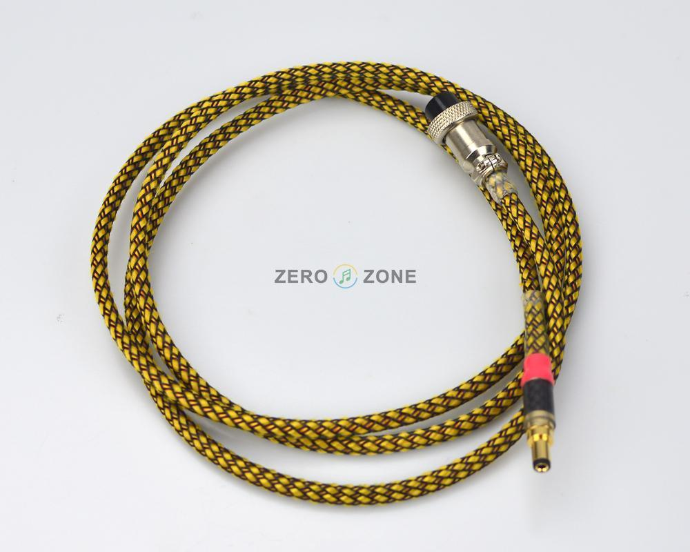 GZLOZONE 1.8M Hi End LN-6A GX16 To 5.5*2.1mm DC Cable / Pure Hand Made like hi 6