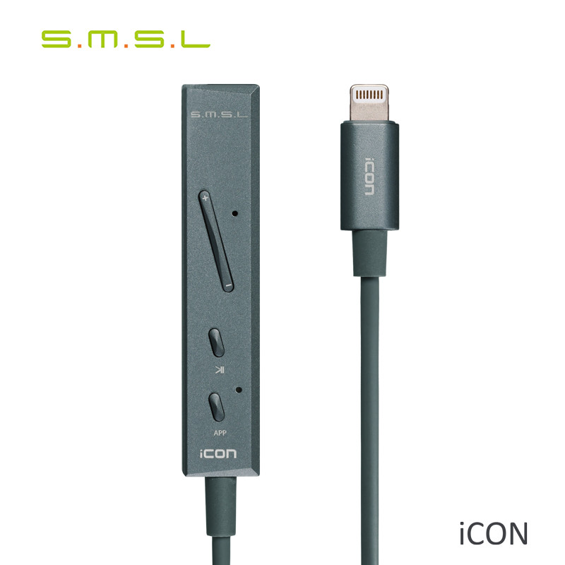 SMSL ICON iPhone 7 Portable Lightning Dac Hi fi Decoder Amplifier Mini Headphone Amplifier Sound DAC Amp with microphone sound intone 3 5mm in ear style hi fi handsfree headphone w microphone black cable 110cm