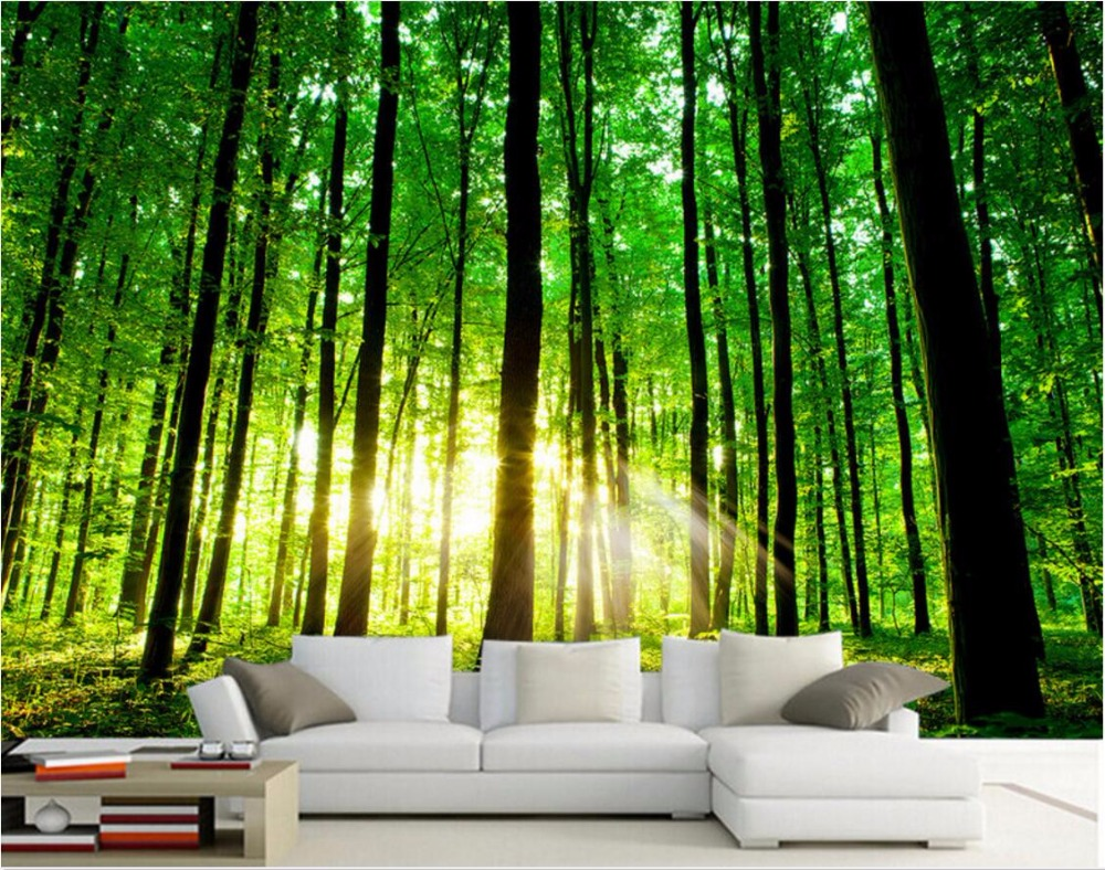 Custom Mural Photo 3d Room Wallpaper The Sun Tree Forest Home Decoration Picture Painting 3d Wall Murals Wallpaper For Wall 3 D Mural Wallpaper For Walls 3d Wall Murals Wallpapermural Wallpaper Aliexpress Wallpaper 3d dinding rumah