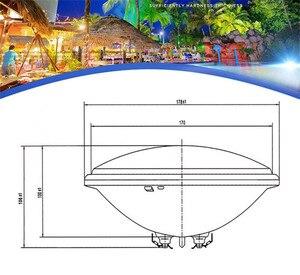 Image 5 - Luz de piscina RGB Par56, foco IP68 AC12V AC24V, 15W 18W 24W, bombilla para fuente IP68, impermeable, lámpara de luz subacuática para exteriores