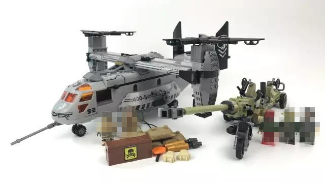 640pcs Helicopter Artillery Special Forces Military Building Blocks Kits Army Soldiers DIY Model Figures Bricks Toys for Kids new fx3u 64ccl special function blocks