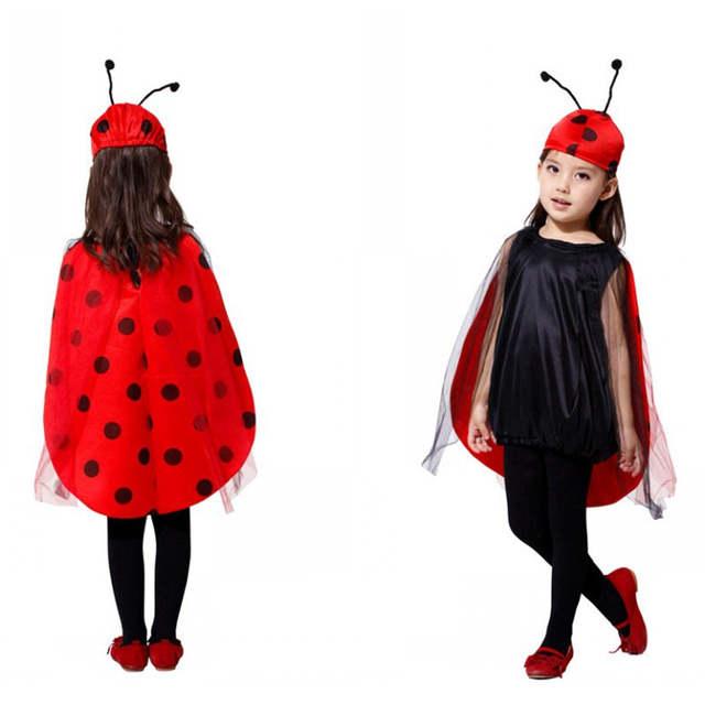 Fantasia Infantil Meninas Joaninha Crianças Insect Cosplay Anime