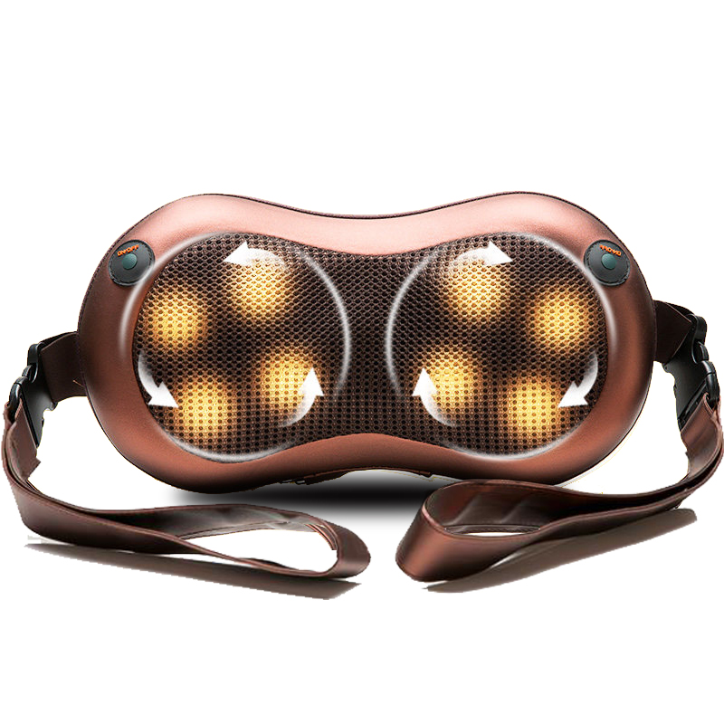 Electrical Massage Pillow Device Shiatsu Back Neck Shoulder Body Massager Infrared Heating Kneading Car Home Massagem