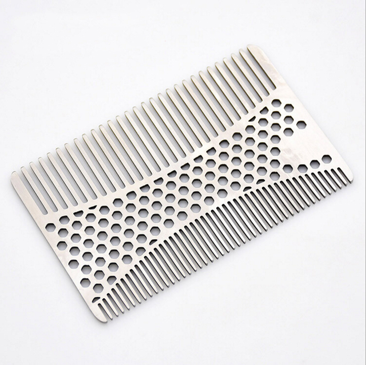 Stainless Steel Mustache Comb Beard Comb for Men's Shaving Male's Mustache Pocket Brush Facial Hair Brush Bottle Opener