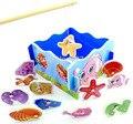 BOHS Caixa de Brinquedos Educacionais Do Bebê De Madeira brinquedo de Pesca Magnética Criança Brinquedos Educativos DIY