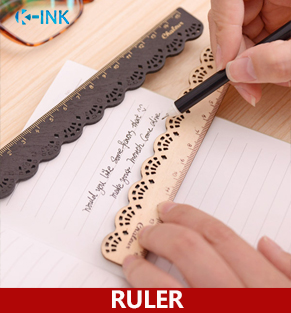 40pcs / Lot , Lace Wooden Straight Ruler For School Students , Wood Lace Ruler As School Stationary