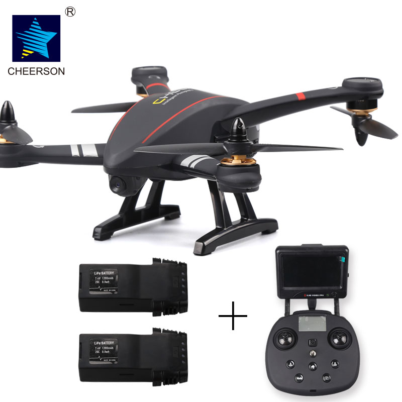все цены на Cheerson Original CX-23 CX23 Brushless 5.8G FPV With 720P Camera OSD GPS RC Quadcopter RTF add 2 battery packs онлайн