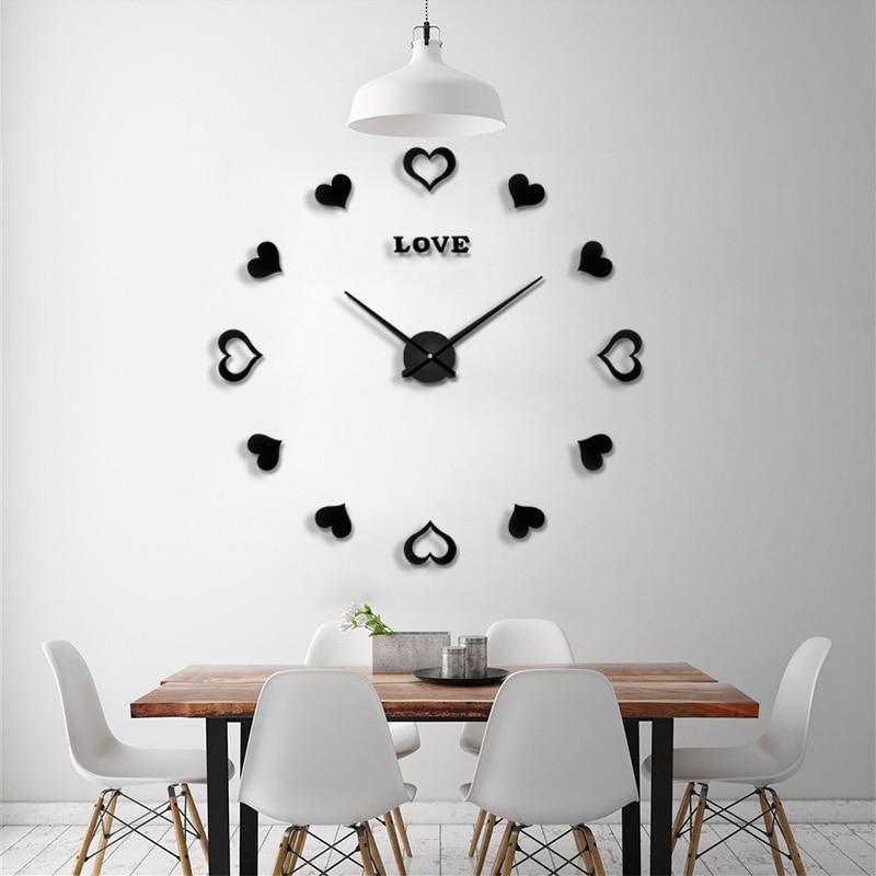 2019 Kerstmis grote wandklok mode muur Watch Room versieren - Huisdecoratie - Foto 3
