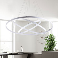 Ring Circles Modern Led Pendant Lights Remote Control Light Fixture For Dinning Room Livingroom