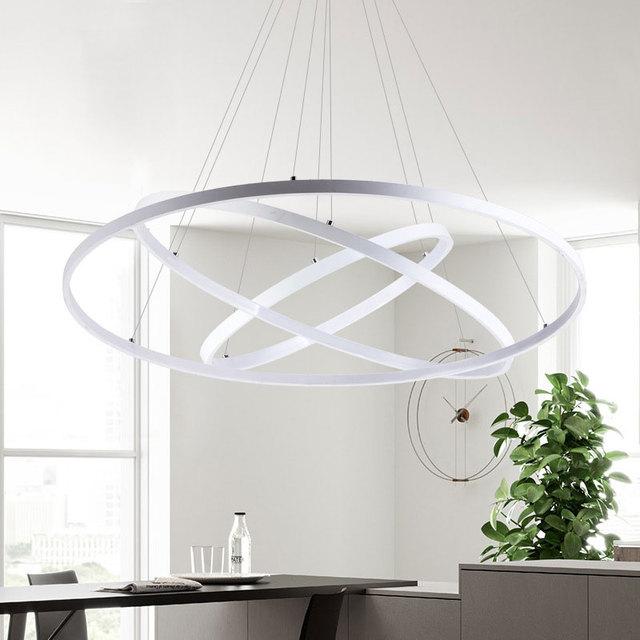 Ring Circles Modern Led Pendant Lights Remote Control Light Fixture for dinning room livingroom