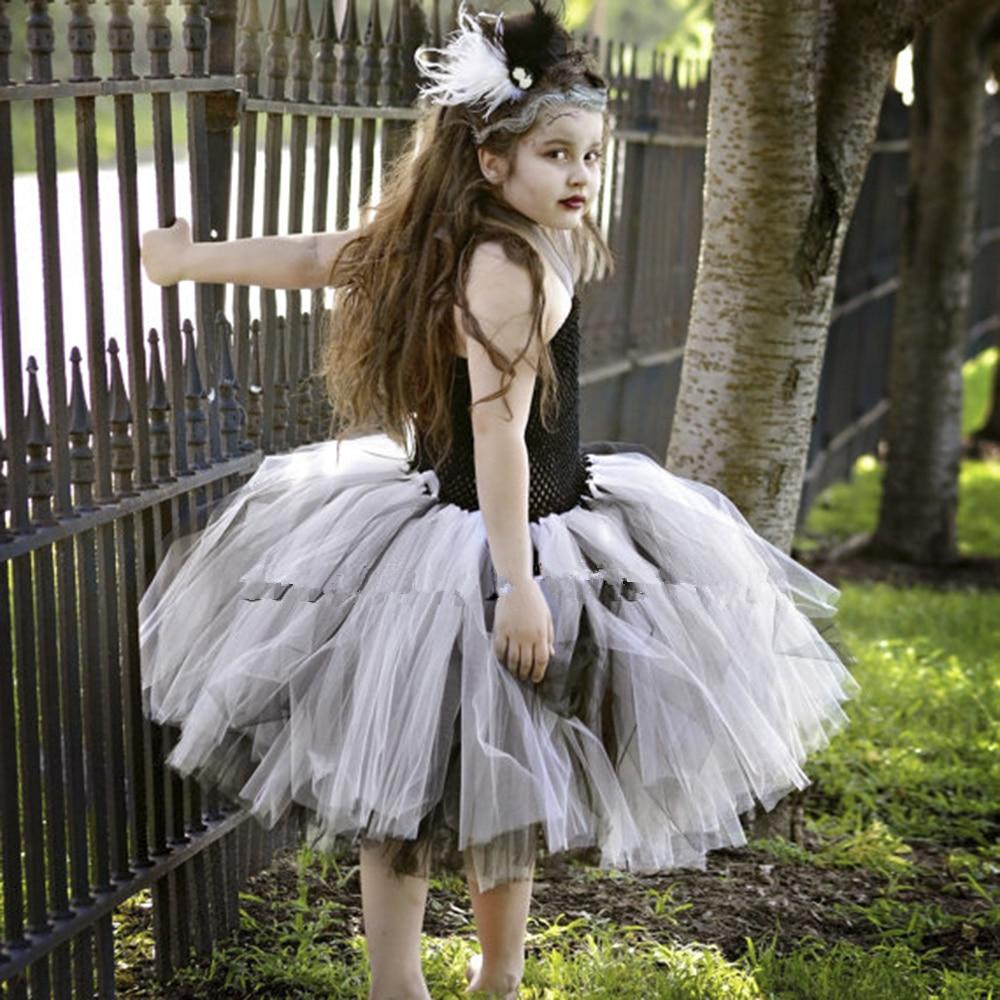 online shop bride of tutu dress halloween costume little girls teenager dresses 5t 6 7 8 10 scary monster pageant gown pt123 aliexpress
