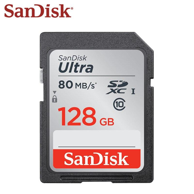 SanDisk SD Card 128GB Record Card 64GB Flash Card  32GB Class 10 Memory Card 16GB C10 80MB/s SDHC SDXC 100% Original Free Ship