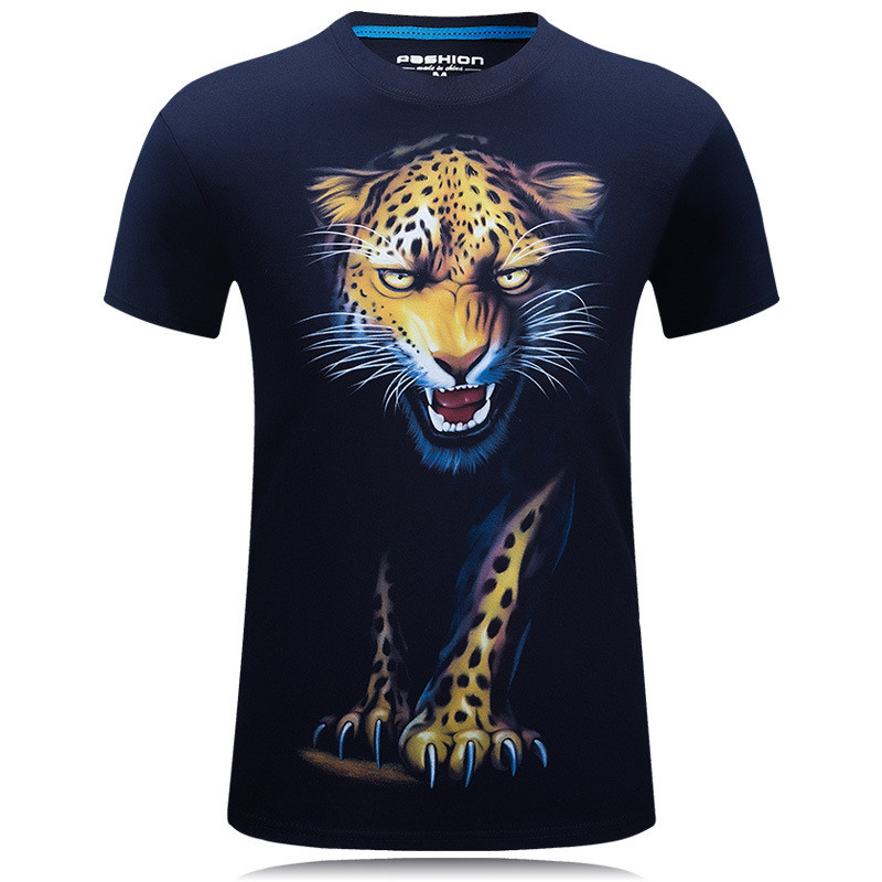 3D Printing Leopard T-shirts Man's T-shirt Short Sleeve Tees Fashion Woman Streetwear Mens Coats tshirts European Summer 2019 1