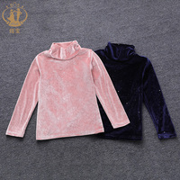 Girls Autumn Clothes 2018 New Autumn High Collar Bottoming Shirt Long sleeved T shirt Children's Thick Shirt Girls Tops