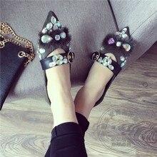 G litterรองเท้าสตรีหรูหรารองเท้าที่อบอุ่นไนท์คลับNubuckหนังF Rostedแมรี่เจนรองเท้าสีทึบS Trappy F Auxขน