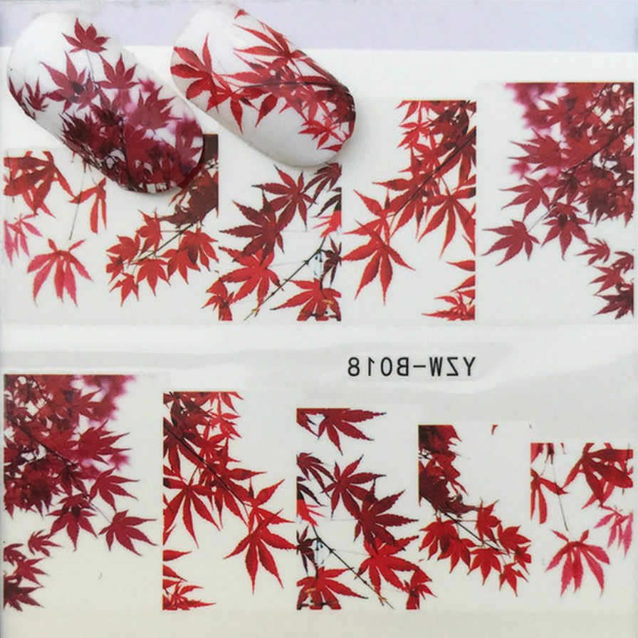 1 Pcs Red Maple ใบอะคริลิคคริสตัล Polymer Nail Art Design Builder เท็จเคล็ดลับเล็บ Art Builder สำหรับเล็บเล็บ Pol