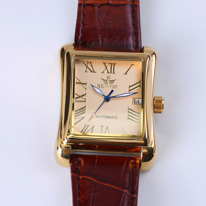 Image 5 - חדש SEWOR מלבני יוקרה גברים שעונים למעלה מותג אוטומטי מכאני צפו רומי עתיק תצוגת שעון Relogio שעון יד
