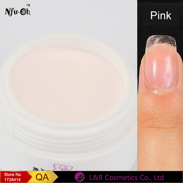 NFUOH Cover Pink Acrylic Powder Gel Nails Sculpture Colored Acrylic ...