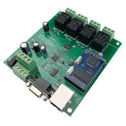 Ethernet moduł sterowania przekaźnika przekaźnik sterujący Lan sieci Wan serwer www RJ45 RS232 portu 4 kanał TCP IP przełącznik DIY PCB pokładzie inteligentnego domu