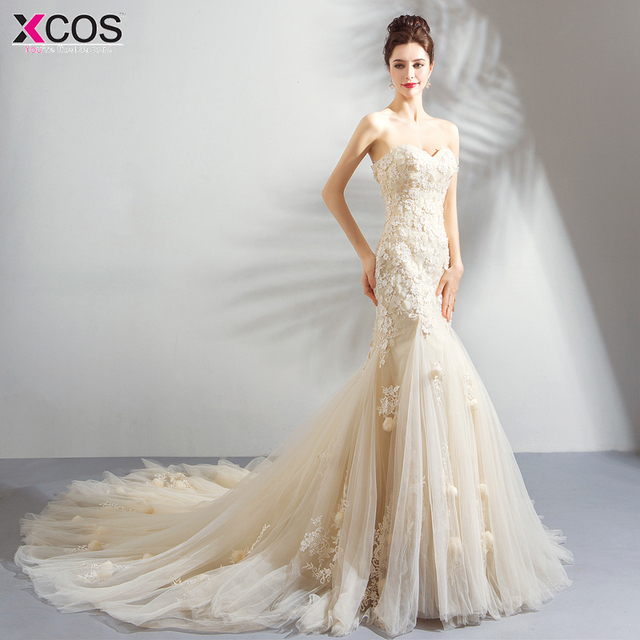 172e327ad41ae New Corset Lace Mermaid Wedding Dresses 2018 Simple Elegant Wedding Gowns  for Bride Dress Boda robe
