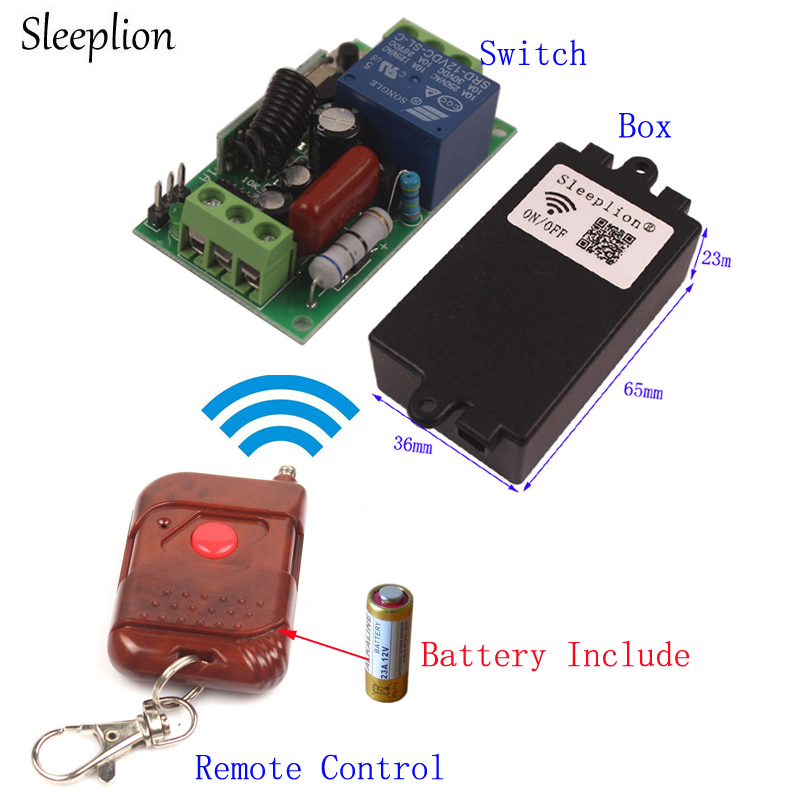 Sleeplion 220V 433MHz Remote Control Lighting Switch control light switch For Home LED Lamp Appliance