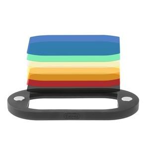 Image 5 - Selensフラッシュスピードライトハニカムグリッドディフューザーリフレクター磁気ゲルバンド 7 個フィルターフラッシュアクセサリーキット