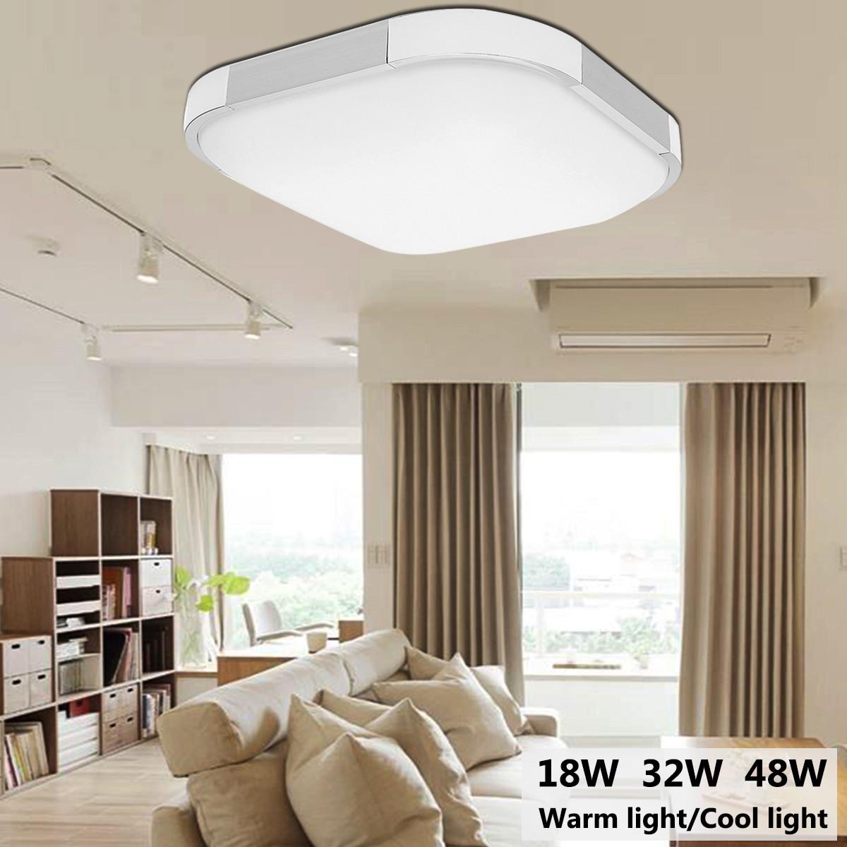 18/36/48W Square Led Ceiling Lights Modern Lamp Down light for Living Room Crystal Lamp Led Lights for Living Room Bedroom