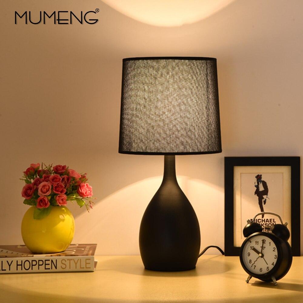 Nordique moderne minimaliste Vase forme lampe de Table chambre Table lampe tissu ombre salle à manger Restaurant E14 LED décor Table lumière