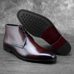 Теплые черные/коричневые мужские ботинки из натуральной кожи, зимние ботинки, мужская деловая обувь