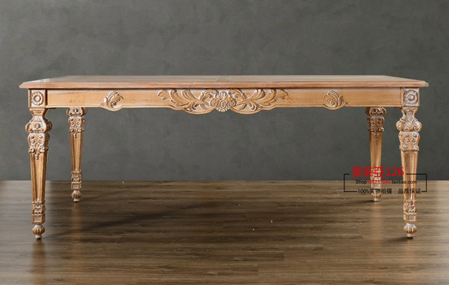 Francés neoclásico rectangular tallada a mano de muebles de madera ...