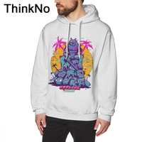 Hotline Miami Hoodies For Man 2018 Sweatshirt Fashionable New Arrival Round Neck Popular long sleeve