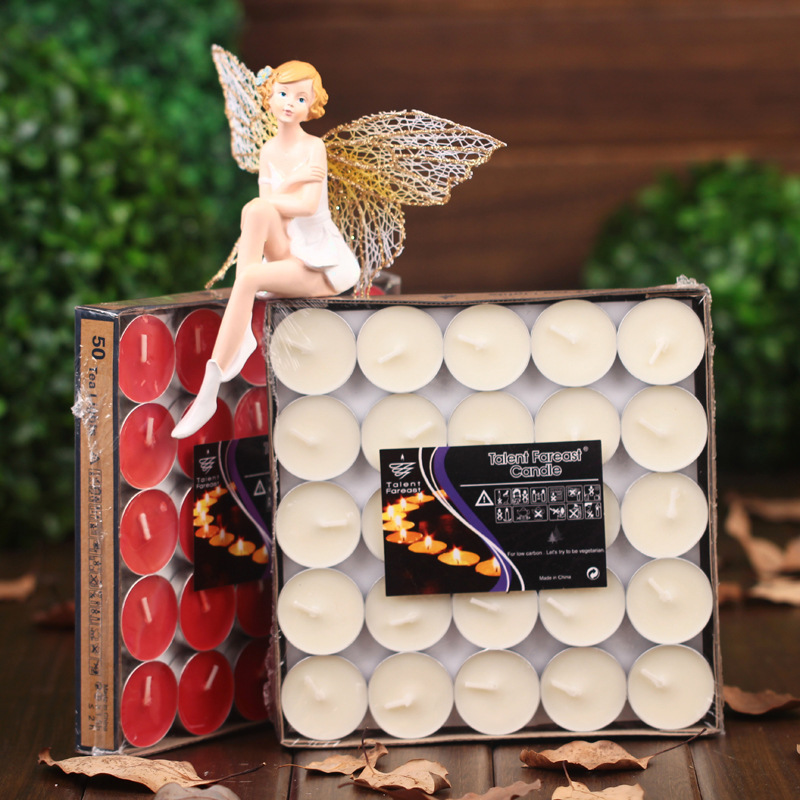 2017 hot 50Pc/Set Round-shaped Candles Courtship Confession Birthday velas Wedding Scented Candles 1pc 35*35*8mm yankee Candle