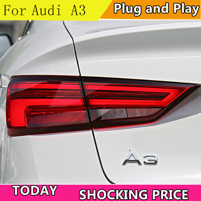 doxa Car Styling for Audi A3 Tail Lights 2013 2019 A3 LED Tail Lamp LED DRL