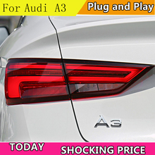 doxa Car Styling for Audi A3 Tail Lights 2013-2019 LED Lamp DRL Dynamic Signal Brake Reverse auto Accessories
