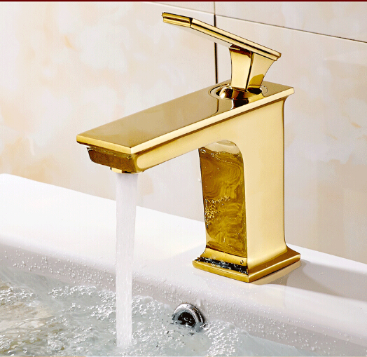 new arrival brass material gold finished bathroom single lever hot and cold sink faucet,basin tap mixer new arrival tall bathroom sink faucet mixer cold and hot kitchen tap single hole water tap kitchen faucet torneira cozinha