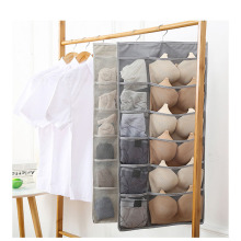 Wardrobe storage bag hanging Large capacity Oxford cloth wall Double-sided underwear socks