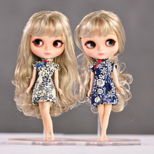 2017 Free shipping hot cheongsam Doll Clothes for Blythe azone licca mmk Doll Accessories Christmas Toys