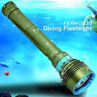 14000LM 7x XM L2 LED Diving Flashlight High Power Dive Torch Light Underwater Professional Scuba Flashlights Lamp by 26650/18650
