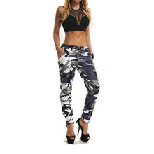 2018 Harajuku Fitness WOMENS Camo ผู้หญิงกีฬา CAMO Cargo กางเกง Outdoor Casual Camouflage กางเกง Pantalon Femme Camouflage(China)
