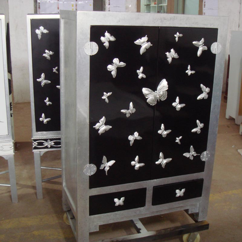 Black Butterfly Silver Neoclassical Living Room Sideboard Locker Room Wine  Cabinet Shoe Cabinet Model Furniture Custom Partition In Sideboards From ...