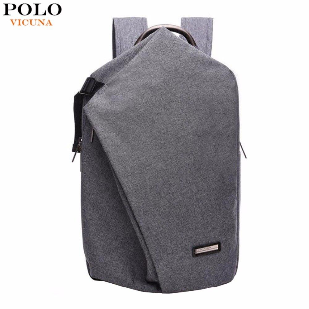Викуньи поло бренд холст ноутбук рюкзак Два-двойной большой емкости мужской рюкзак школьный рюкзак унисекс путешествия рюкзак