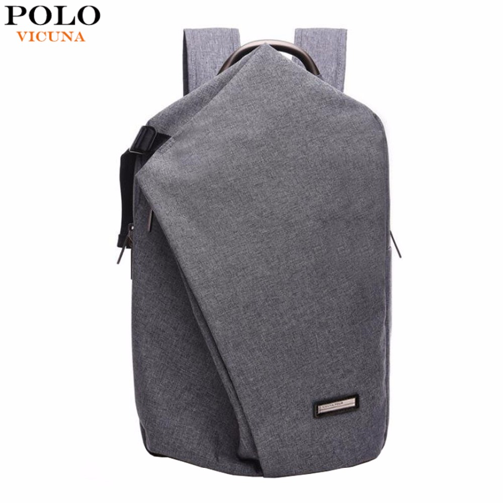 VICUNA POLO Brand Canvas Laptop Backpack Two-double Large Capacity Men Backpack School Backpack Unisex Travel Rucksack Knapsack