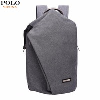 VICUNA POLO Brand Canvas Laptop Backpack Two Double Large Capacity Men Backpack School Backpack Unisex Travel