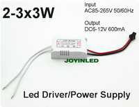 2 3x3W Led Lamps External Driver 3 3W 9W 600mA LED Constant Current Driver Lighting Transformers