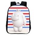 2016 Hot Sale Fashion Cool Big Hero Bag Mochila BookBags School Bags for Girls & Boys Cartoon Kids Backpack Polyester Schoolbag