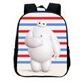 2016 venta caliente de la manera fresca big hero bolsa mochila bookbags Bolsos de escuela para Niñas y Niños de la Historieta Niños Mochila de Poliéster Schoolbag