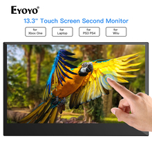 Eyoyo 13.3 EM13K LCD Portable 1920x1080 IPS Gaming Monitor compatible for Game Consoles PS3 Switch HDMI PC Screen thin monitor
