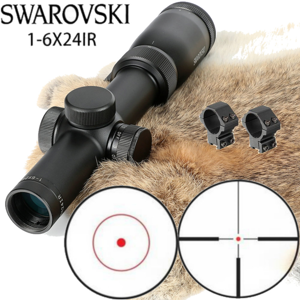 Imitation Swarovskl Riflescope 1-6x24IRZ3 F15 Or F101 Circle Dot Punctuate Differentiation Sight Glass Rifle Scope Made In China