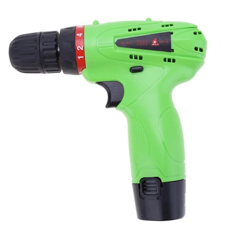 0.8-10 mm 12V Max DC Lithium-Ion Battery Cordless Home Electric Drill Mini Screwdriver Wireless Power Driver desoon de12dc 12v max electric screwdriver cordless drill mini wireless power driver dc lithium ion battery 3 8 inch 2 speed