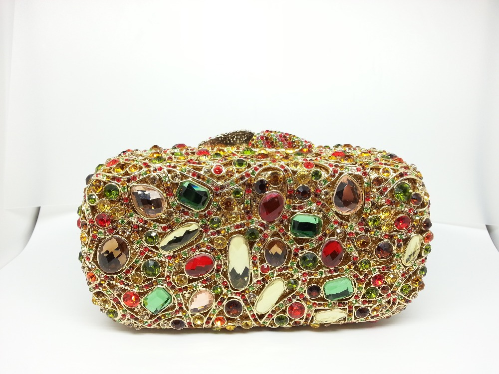 Gift Box Wedding Bridal Clutches Evening Bags Crystal Women Vintage Clutch Bag Purse Rhinestone Las Handbags Party Purses In From Luggage